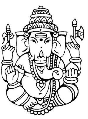 298x400 Free Ganesh Clipart Hindu Bride Ganesh, Patterns