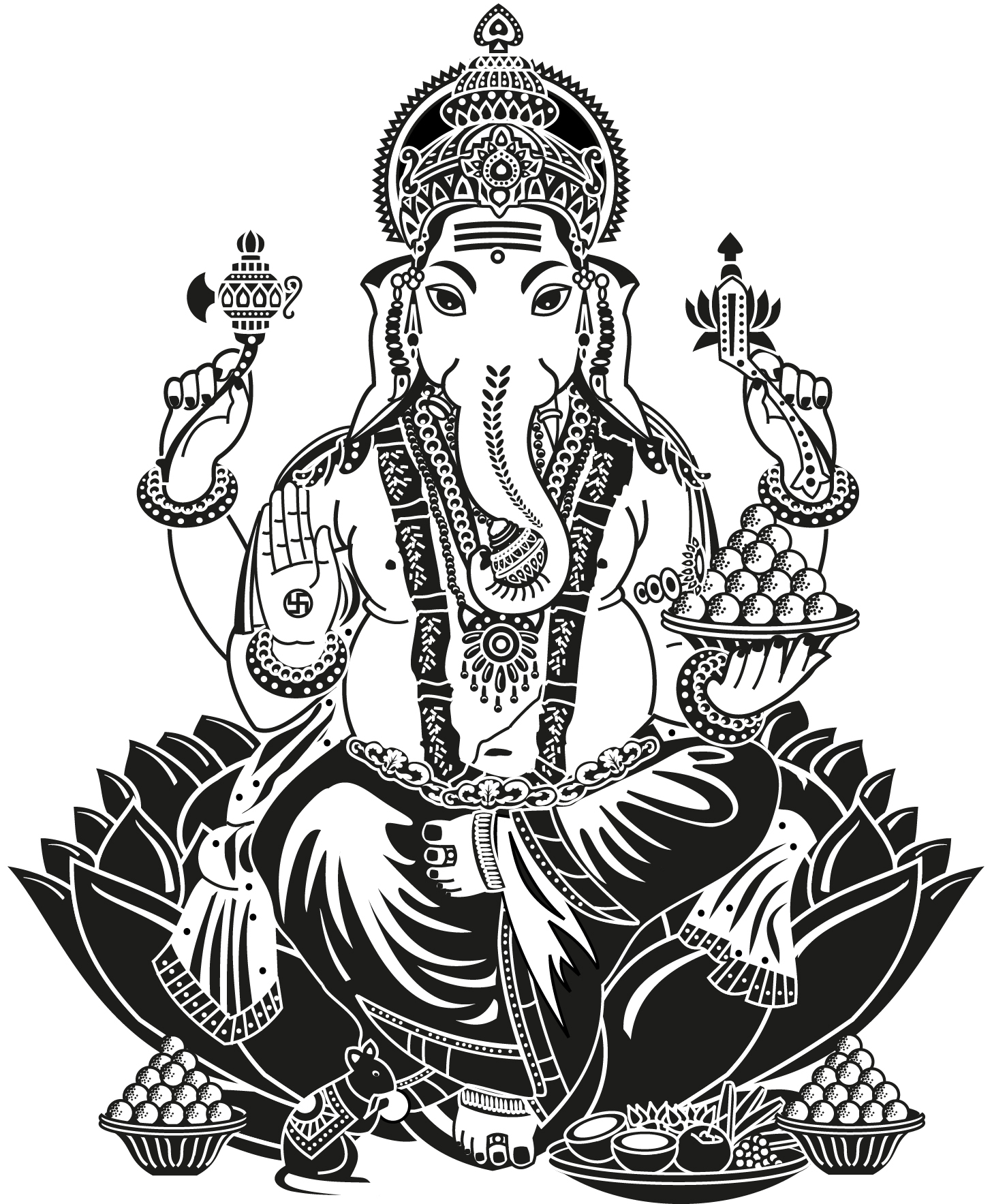 Ganesh Line Drawing : Ganesh line drawing at getdrawings free for personal