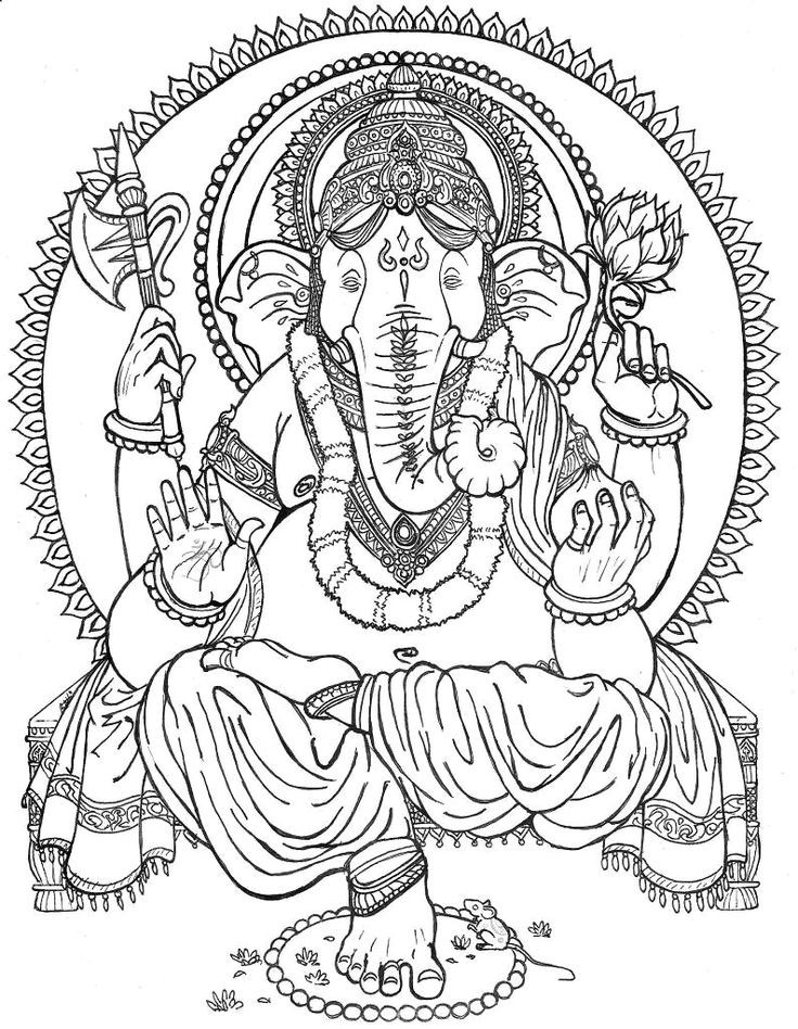 736x948 Ganesha Coloring Pages