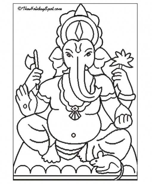 510x616 Ganesha Coloring Pages