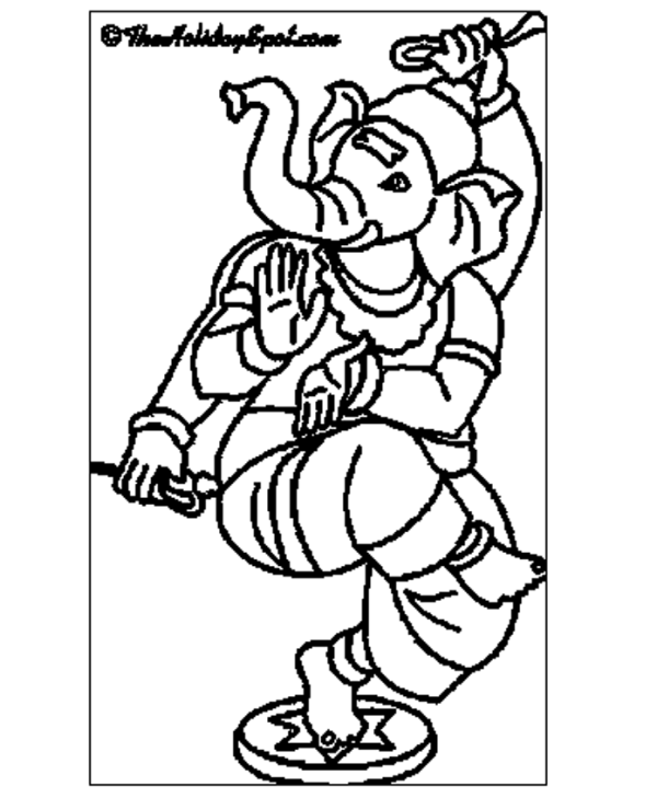 600x729 Ganesha Coloring Pages