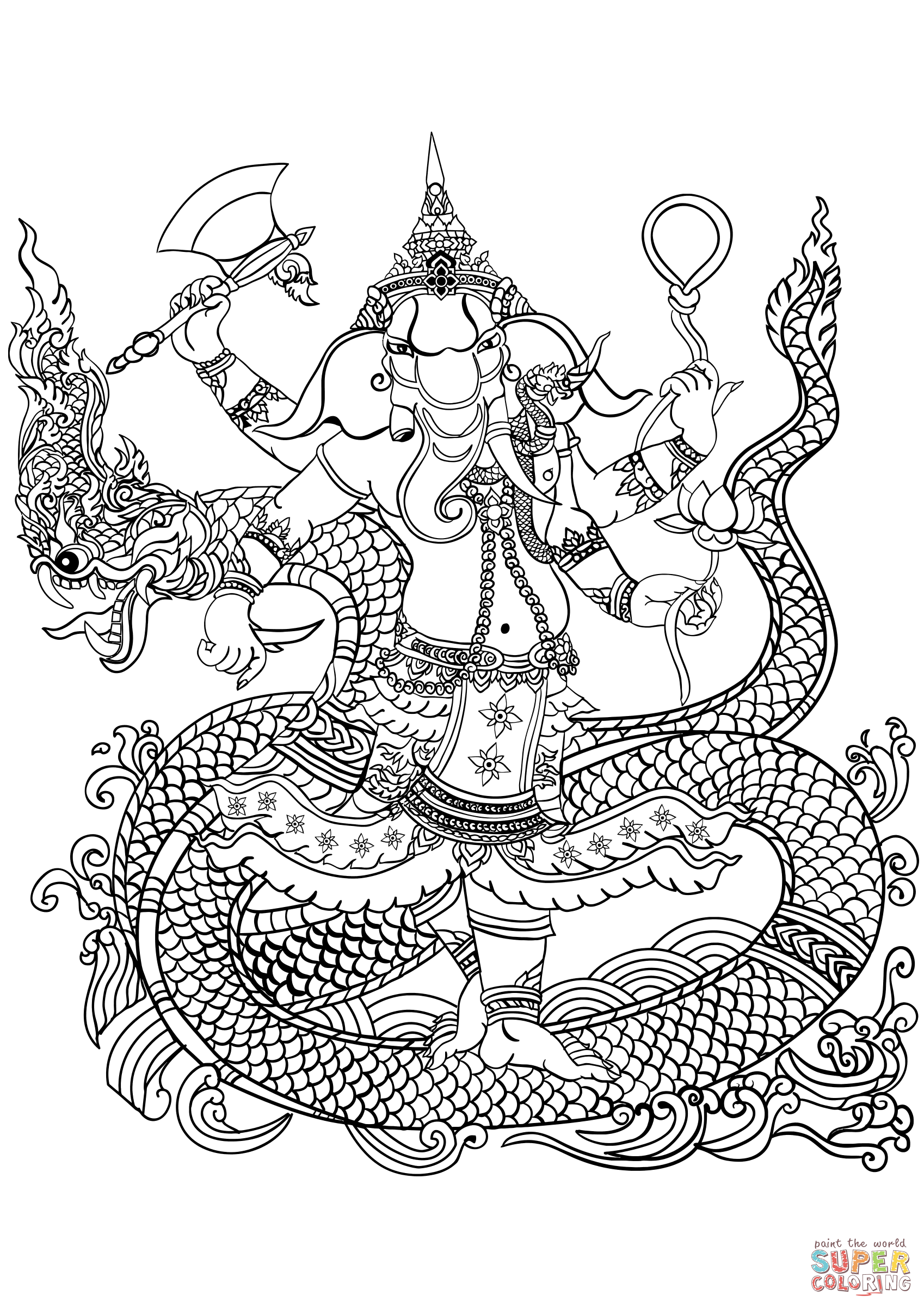 1698x2404 Ganesha Coloring Page Free Printable Coloring Pages