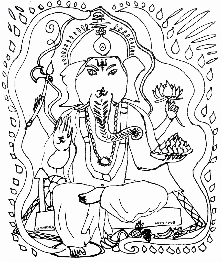 867x1024 Ganesha Ji Coloring Page Dear Friends, Here's A Ganesha