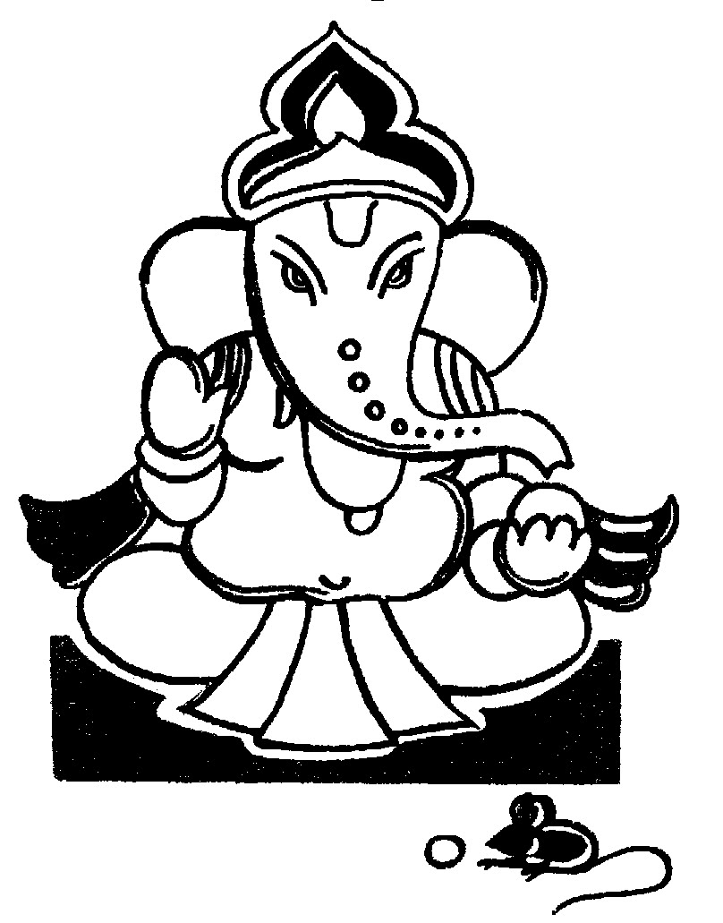 808x1031 Ganpati Clipart Black And White Amp Ganpati Clip Art Black And White