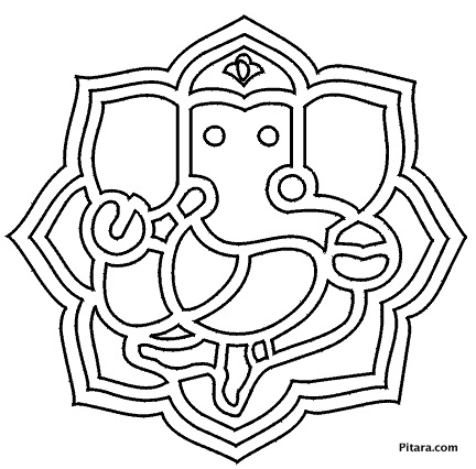 432x426 Lord Ganesha Coloring Pages For Kids Pitara Kids Network