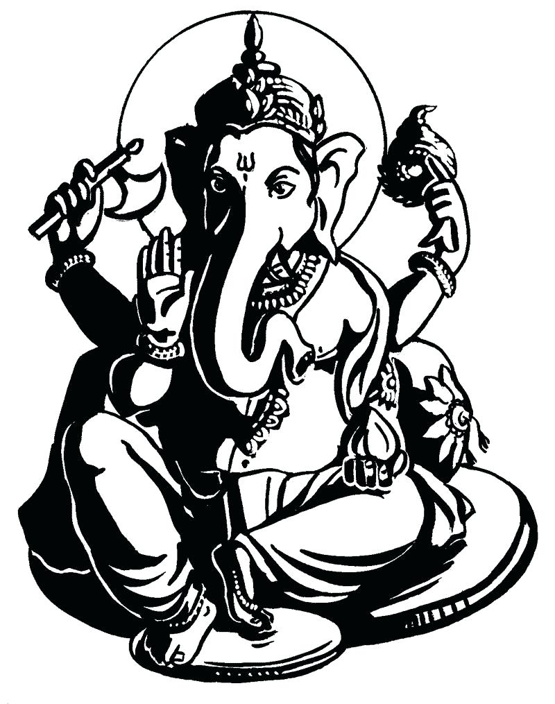 800x1015 Coloring Ganesha Coloring Pages