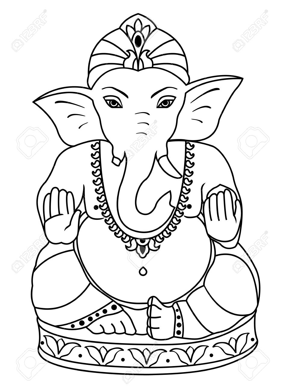 970x1300 Gallery Ganesha Images Outline,