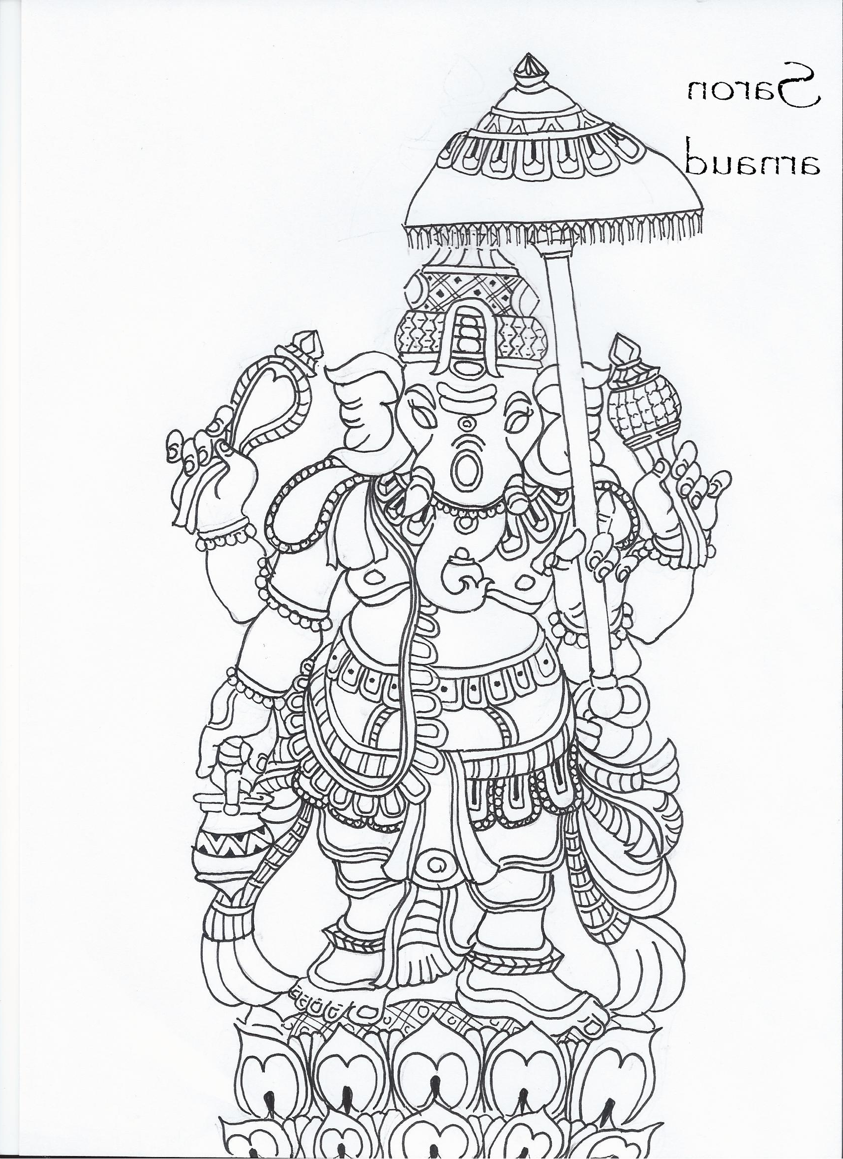 Ganesha Drawing Images