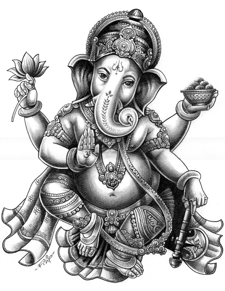 464x600 Ganesh Chaturthi Ganesh Artwork Drawings