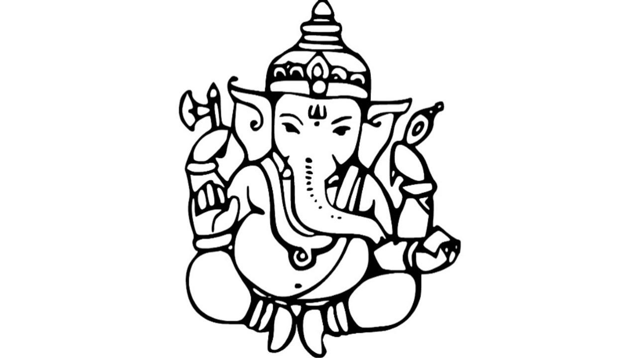 1280x720 Ganesh Sketch Drawing