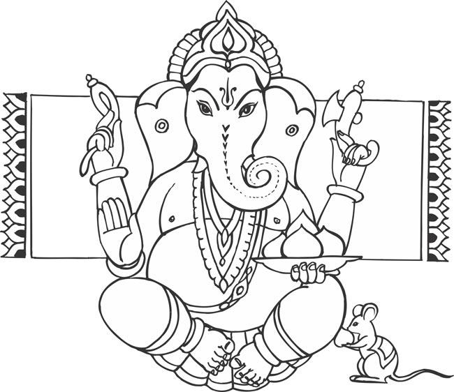650x562 Ganesha Black And White Clipart