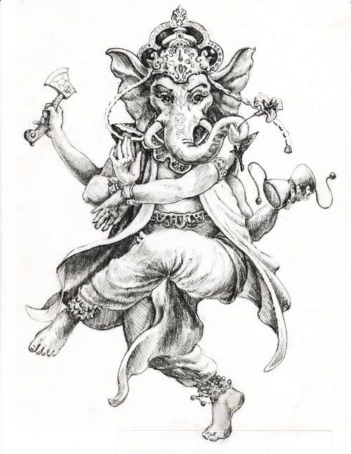 500x647 Ganesha Sketch Collection