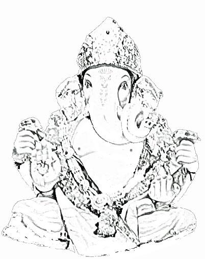 402x507 Ganpati Sketch
