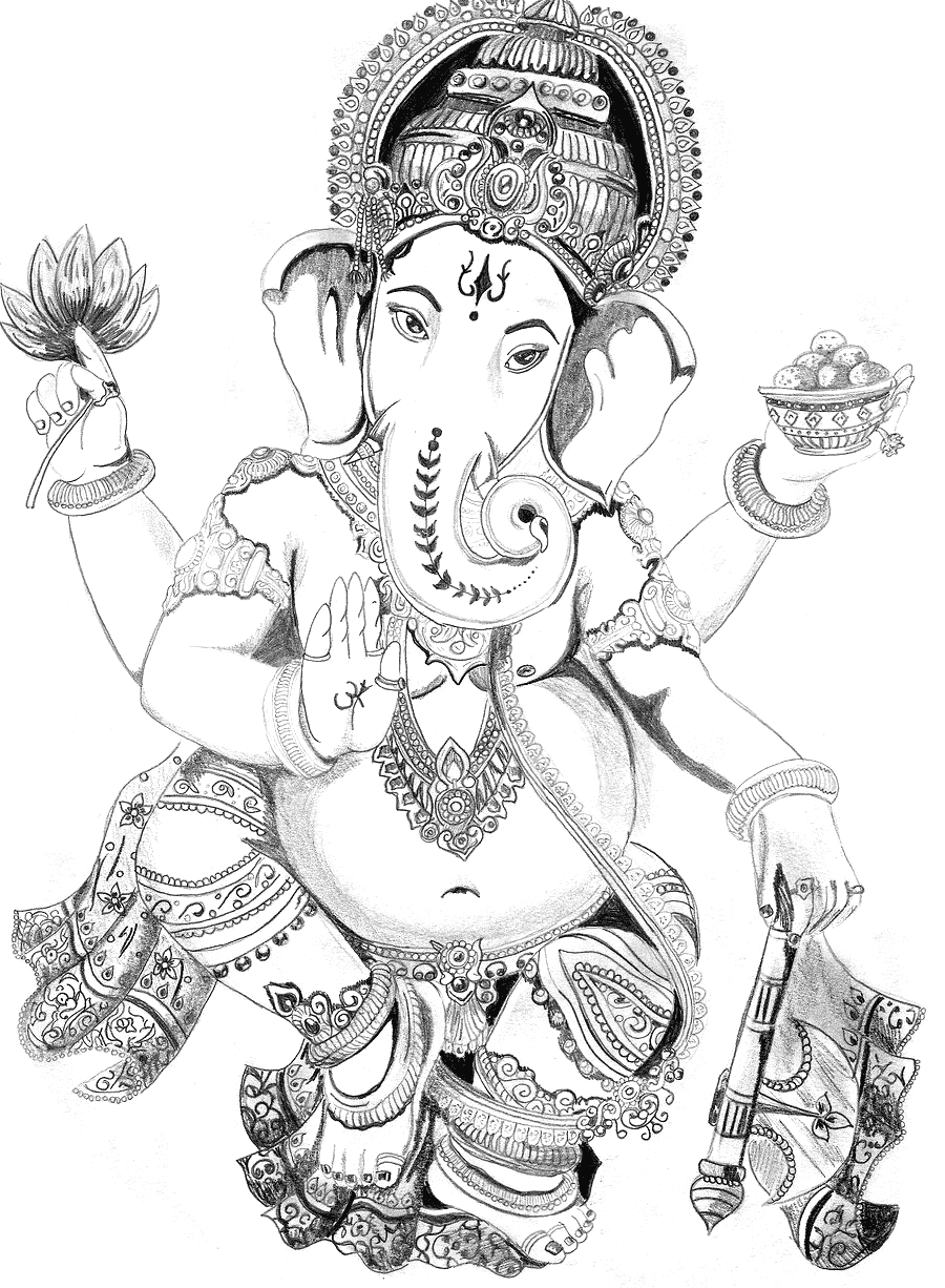 Ganesha Drawing Images At Getdrawingscom Free For Personal Use