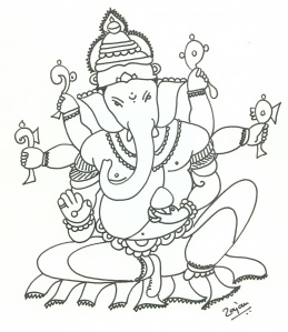 259x299 Pictures Lord Ganesha Sketch Drawing,