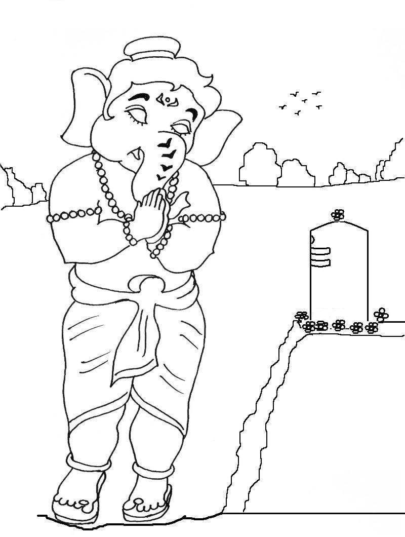 800x1060 Printable Coloring Pages Of Ganesh Ganesha