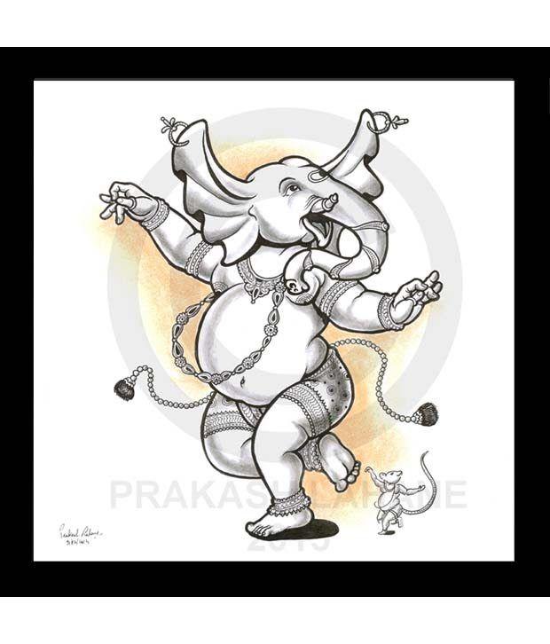 620x726 Truly Godly Dancing Ganesha Sketch Frame Buy Truly Godly Dancing