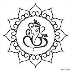236x236 Simple Ganesh Line Drawings
