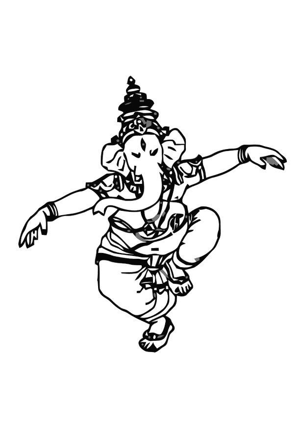 620x875 Coloring Page Ganesh