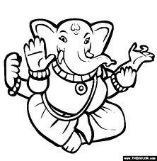 222x227 Drawing And Coloring Blog Ganesha Coloring Pages