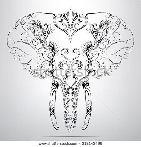 450x470 Drawn Asian Elephant Ganesh