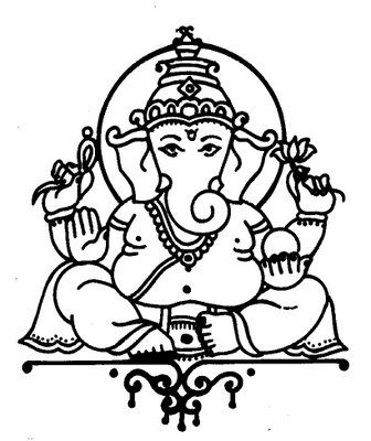 336x400 Gallery Ganesha Images For Drawing,