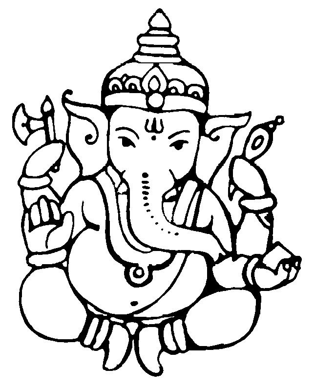 Ganesh Line Drawing : Ganesha line drawing at getdrawings free for