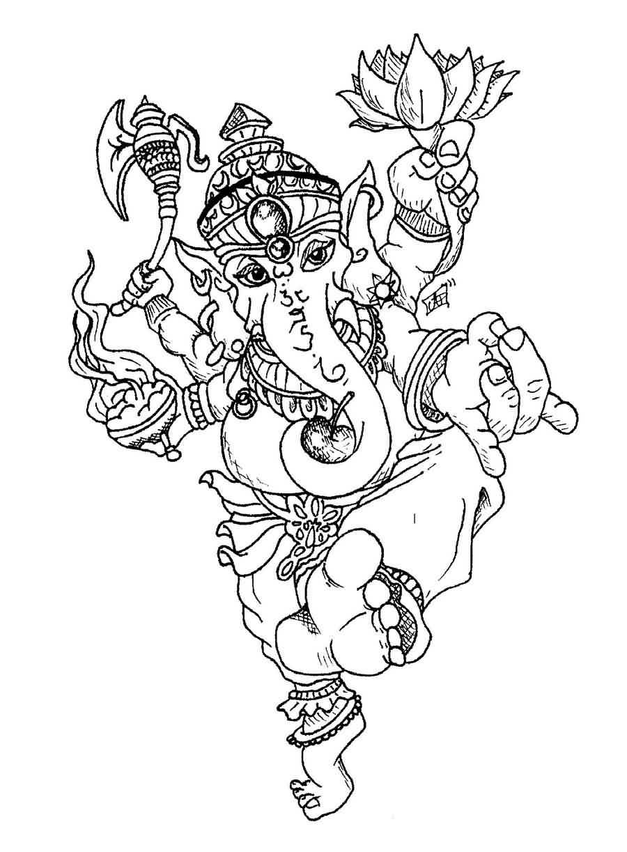 Ganesha Simple Drawing
