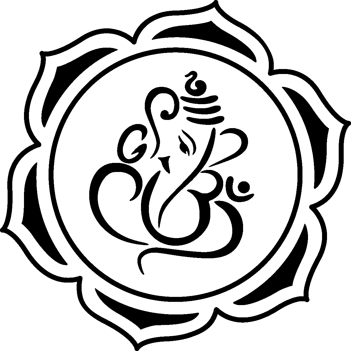 Ganesha Simple Drawing at GetDrawings | Free download