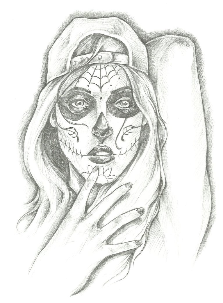 767x1042 Gangsta Girl Day Of The Dead Girl 6 By Wizbang Powersquig