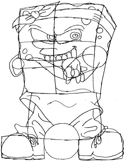 400x520 How To Draw Gangsta Spongebob Squarepants