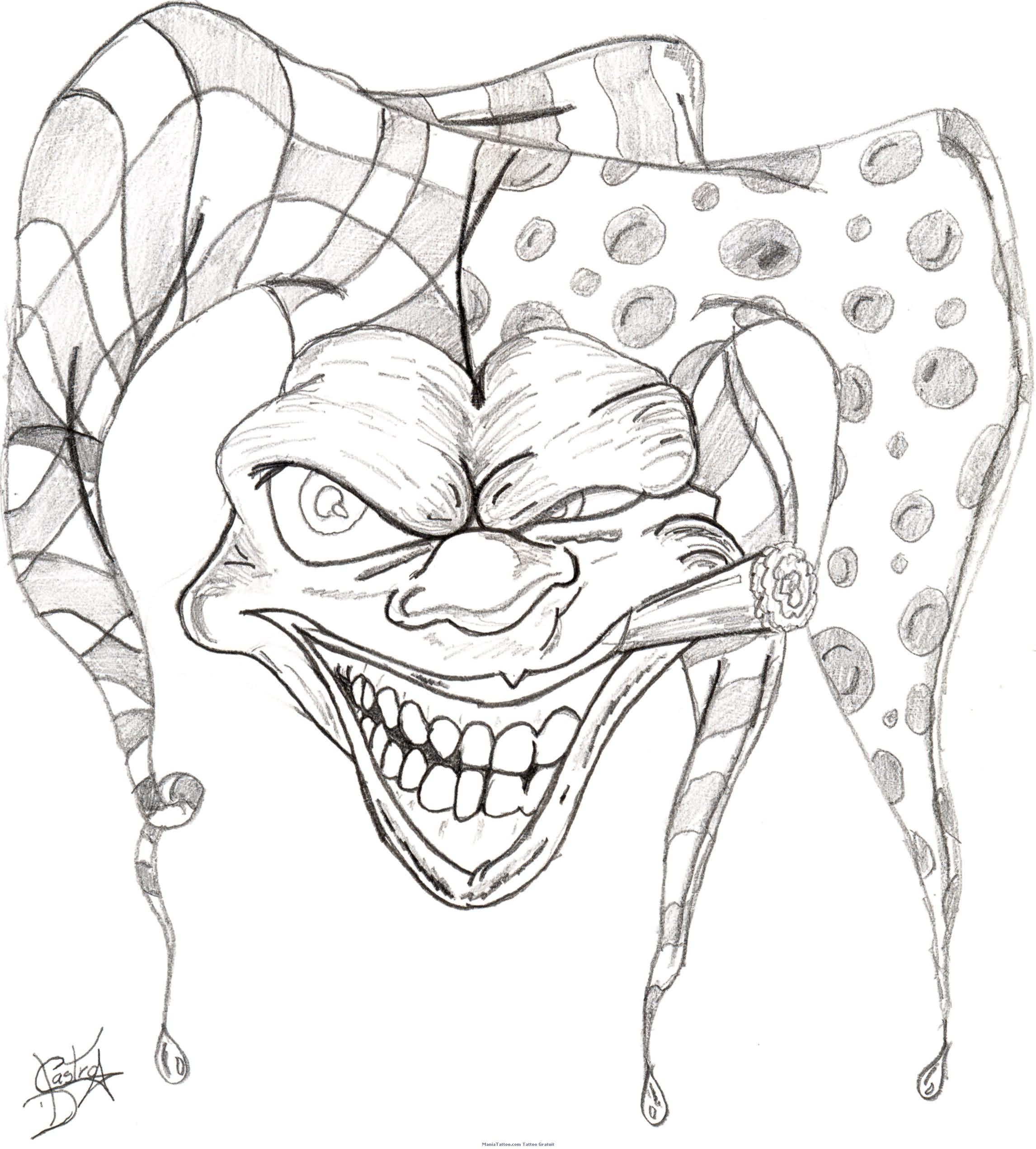 2292x2540 Clown Tattoo Sketches Gangster Clown Tattoo Sketches Clown