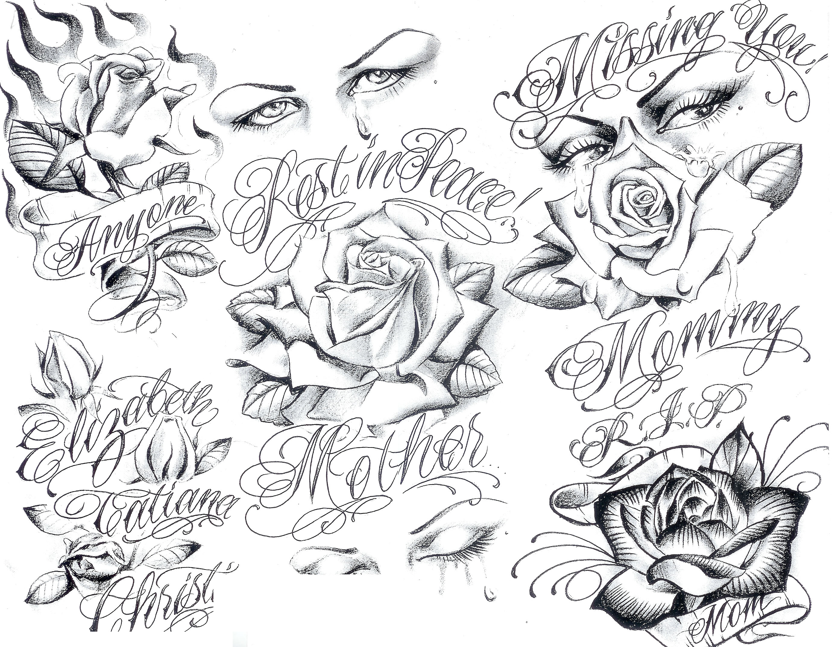 2760x2147 Drawing Gangsta Designs Art Gangster Tattoo Designs Tattoo Flash
