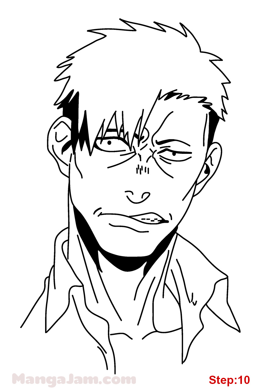 850x1280 How To Draw Nicolas Brown From Gangsta