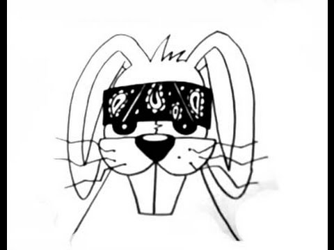 480x360 How To Draw A Gangsta Bunny (For Stickers) 2013