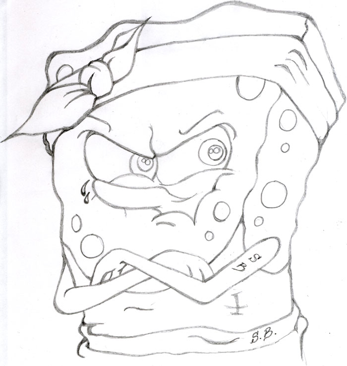 700x739 Image For Gangster Spongebob Drawings Places To Visit