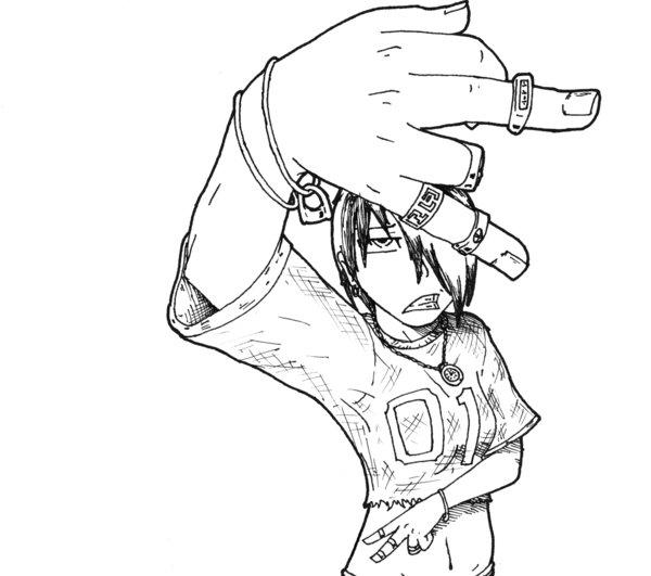 600x531 Gangsta Girl By Byoki Desu