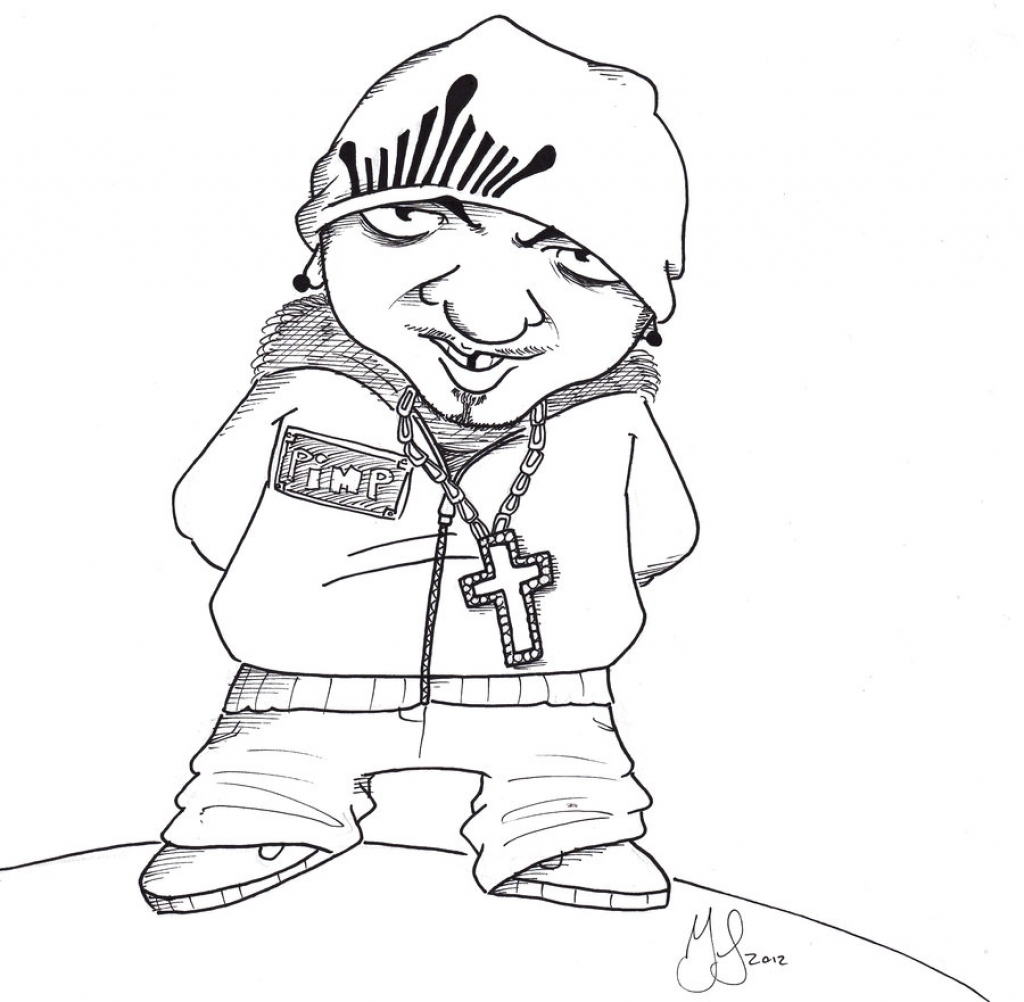 1024x1002 Gangster Cartoon Drawings Gangster Girl Cartoon Clipartsco