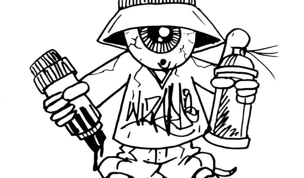 1024x600 Graffiti Sketch Karakter Girl How To Draw