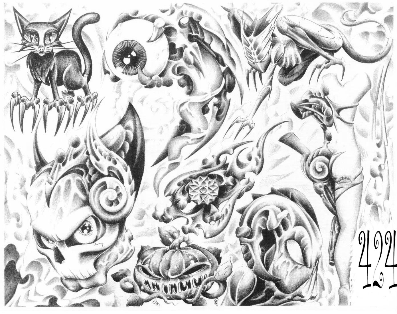 1392x1100 Collection Of Black N White Gangsta Tattoo On Back