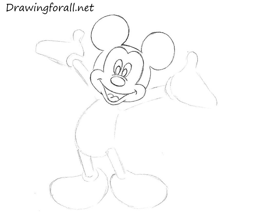 1000x833 Mickey Mouse Face Gangsta Sketch Of The Mickey Mouse Face Drawing