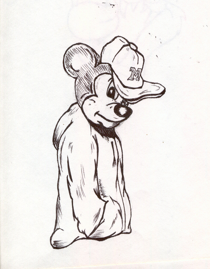 796x1017 Gangsta Mickey By Theonlyanubis