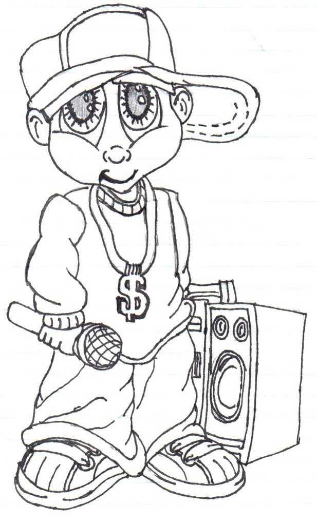 617x1023 Gangsta Cartoon Drawings
