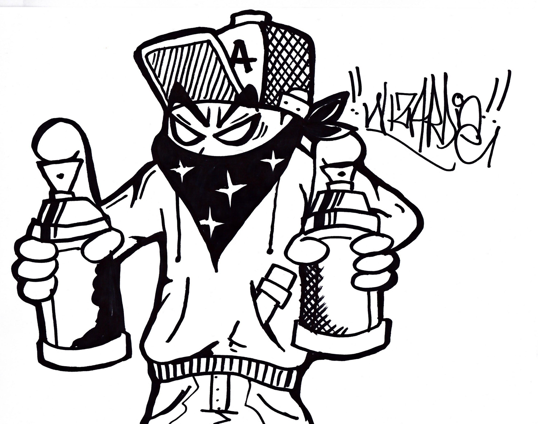 3000x2363 Gangster Cartoon Graffiti Gangster Cartoon Drawings Graffiti