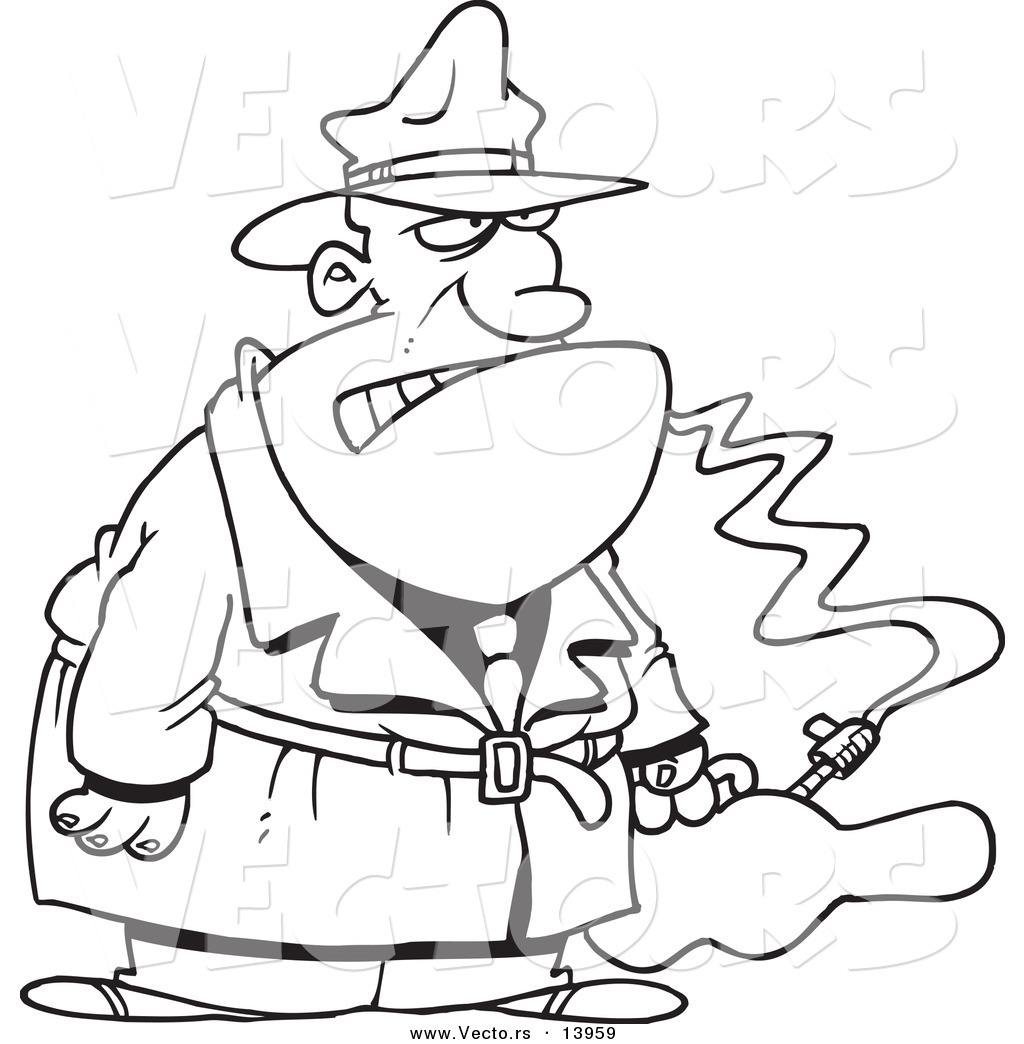 1024x1044 Vector of a Cartoon Gangster with a Gun in a Violin Case