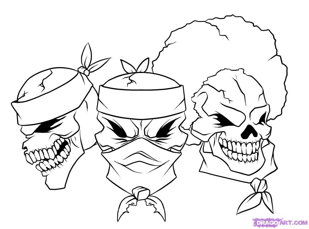 1085x803 Gangster Cartoon Drawings How To Draw Gangsta, Stepstep, Skulls