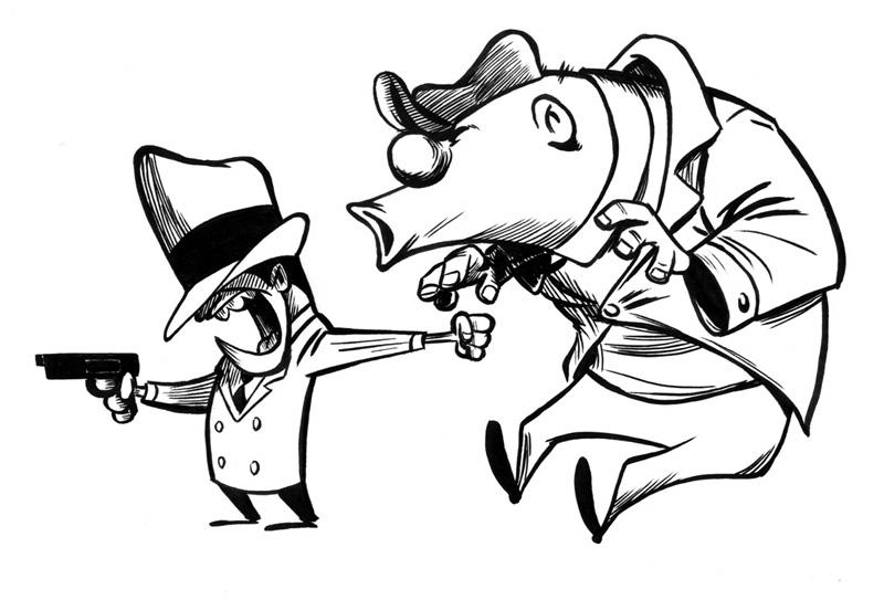 Gangster Cartoons Drawing At Getdrawings Com