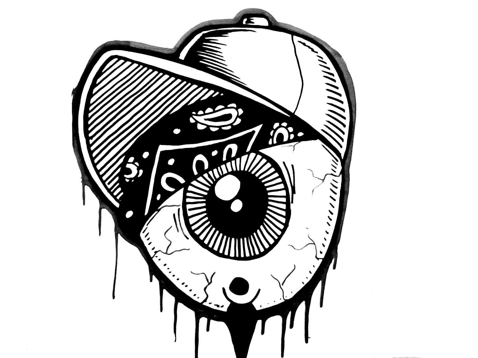 1600x1200 Gangster Skull Drawings