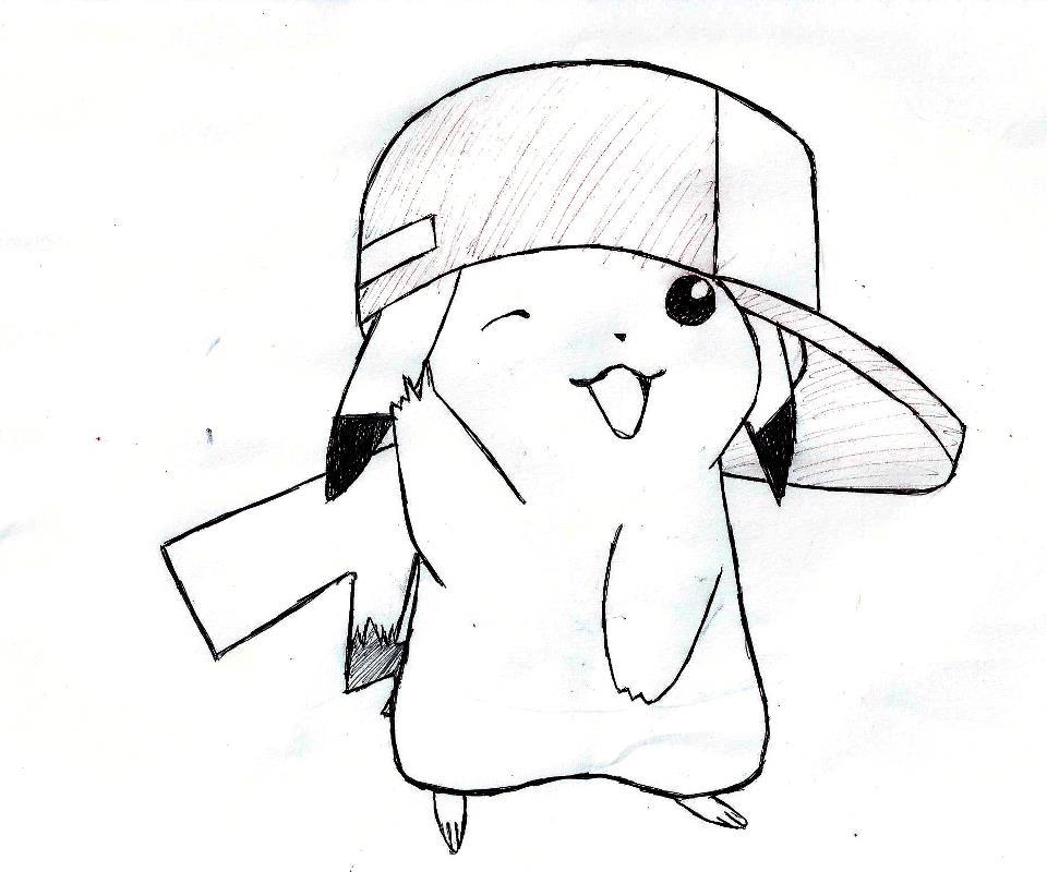 960x800 Drawn Pikachu Gangster