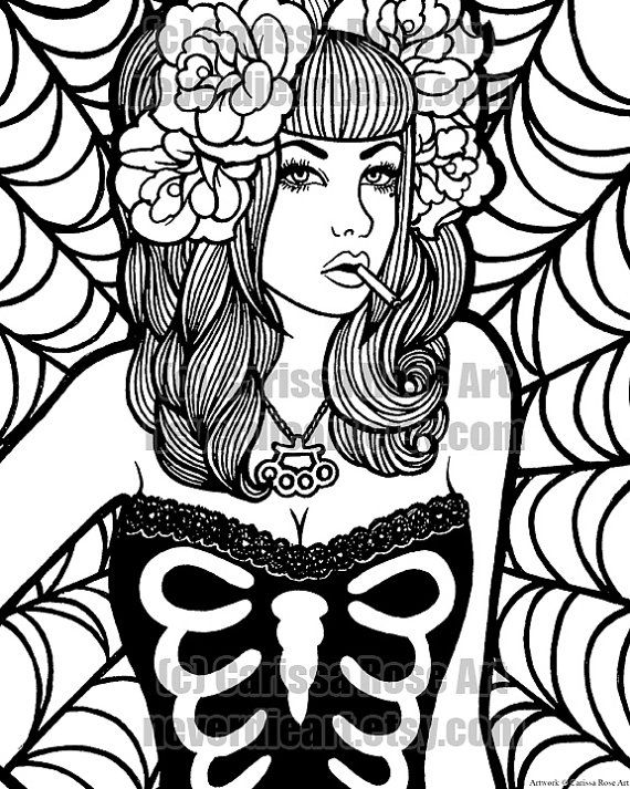 570x713 Gangster Aztec Coloring Pages Printable Gangster Girl Coloring
